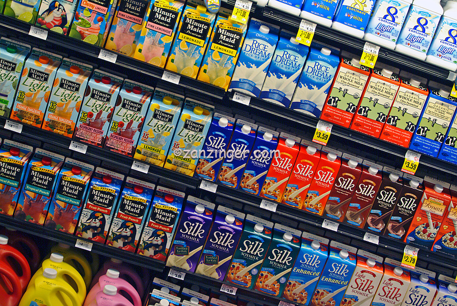 American, US, grocery, produce, food, store, display, shelves, grocery store, Super Market, Produce, Stacked, Shelves, array of specialty foods,