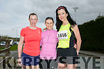 Tessie White, Ann Kelliher and Rachel Stokes at the Kingdom Come 10 miler and 5k race at Castleisland on Sunday