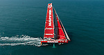Mapfre heading toward the finish line of the Volvo Ocean Race Leg 3 Abu Dhabi-Sanya on January 27, 2015 in Sanya, China. The Volvo Ocean Race 2014-15 is the 12th running of this ocean marathon. Starting from Alicante in Spain on October 11, 2014, the route, spanning some 39,379 nautical miles, visits 11 ports in 11 countries (Spain, South Africa, United Arab Emirates, China, New Zealand, Brazil, United States, Portugal, France, the Netherlands and Sweden) over nine months. The Volvo Ocean Race is the world's premier ocean race for professional racing crews. Photo by Victor Fraile / Power Sport Images