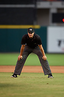 Umpire Ben Fernandez during a Florida State League game between the Palm Beach Cardinals  and Lakeland Flying Tigers on May 22, 2019 at Publix Field at Joker Marchant Stadium in Lakeland, Florida.  Palm Beach defeated Lakeland 8-1.  (Mike Janes/Four Seam Images)