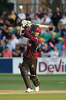 Ed Byrom hits 4 runs for Somerset during Essex Eagles vs Somerset, Vitality Blast T20 Cricket at The Cloudfm County Ground on 7th August 2019