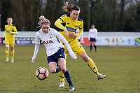 Sarah Wiltshire of Tottenham Ladies and Lauren Haynes of Oxford United Ladies during Tottenham Hotspur Ladies vs Oxford United Women, FA Women's Super League FA WSL2 Football at Theobalds Lane on 11th February 2018