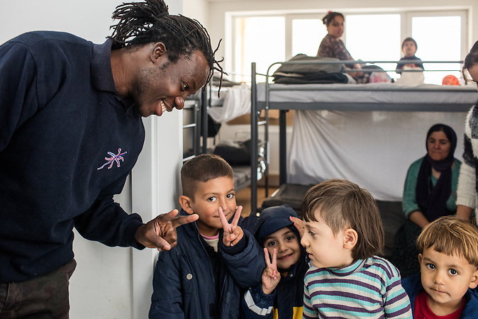 Ibrahim is working for the Comesariat for refugees, government institution of republic of Serbia in camp in Adasevci and across the country. He is doing the job of a translator and has other roles as well. His opened personality and ability to communicate easily with people helps a lot during his job. Children especially love him! Ibrahim is getting regular sallary for providing this services.