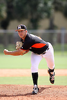 Miami Marlins pitcher Michael Mader #45 during an Instructional League intramural game on September 30, 2014 at Roger Dean Complex in Jupiter, Florida.  (Stacy Jo Grant/Four Seam Images)