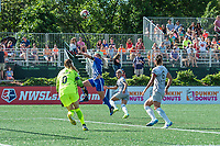Boston, MA - Saturday June 24, 2017: Adriana Leon during a regular season National Women's Soccer League (NWSL) match between the Boston Breakers and the North Carolina Courage at Jordan Field.