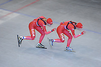 SCHAATSEN: HEERENVEEN: Thialf, 26-06-2012, Zomerijs, Team LIGA, Yvonne Nauta, Janneke Ensing, ©foto Martin de Jong