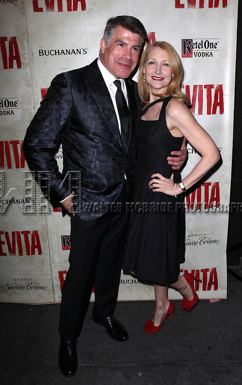 Bryan Batt & Patricia Clarkson.attending the Broadway Opening Night Performance of 'EVITA' at the Marquis Theatre in New York City on 4/5/2012 © Walter McBride / WM Photography