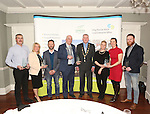 WITH COMPLIMENTS.  Attending the  Entrepreneur of the Year 2016 in the  Limerick Final of the National Enterprise Awards at a ceremony in the Dunraven Arms Hotel, Adare were Cllr. Liam Galvin, Mayor of Limerick City and County Council with Liam Hayes, Bespoke Sauce Company Ltd T/A Global Sauces the Best Manufacturing Business and Entrepreneur of the Year 2016(centre) with from left  Declan McCarthy, McAdare, Best New Start Up Business, Annette and Barry Madden, EJS Plastics winners of the Best Development Potential award, B.J. Broederick and Trin O&rsquo;Brien of Well Nice Pops winners of the Innovation award and Eric McNulty, McNulty&rsquo;s Fuels winner of the Best Service Business award.<br /> Photograph Liam Burke/Press