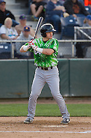 Eugene Emeralds outfielder Ian Happ (25) at bat during a game against the Everett Aquasox at Everett Memorial Stadium in Everett, Washington.  Eugene defeated Everett 7-5. (Ronnie Allen/Four Seam Images)