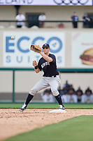 New York Yankees second baseman DJ LeMahieu (26) waits to receive a throw during a Grapefruit League Spring Training game against the Detroit Tigers on February 27, 2019 at Publix Field at Joker Marchant Stadium in Lakeland, Florida.  Yankees defeated the Tigers 10-4 as the game was called after the sixth inning due to rain.  (Mike Janes/Four Seam Images)