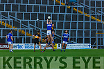Josh Crowley Holland Templenoe and Johnny Buckley Dr Crokes contest the kick Out  during their SFC clash in Fitzgerald Stadium on Friday evening