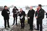 Fr. Jo Campbell, Fr.Nulty, Bishop of Meath, Michael Smith, Frank Maher and Richie Culhane at the Turning of the First Sod on the Site of the new school on the Bryanstown Crossroute...(Photo credit should read Jenny Matthews www.newsfile.ie)....This Picture has been sent you under the conditions enclosed by:.Newsfile Ltd..The Studio,.Millmount Abbey,.Drogheda,.Co Meath..Ireland..Tel: +353(0)41-9871240.Fax: +353(0)41-9871260.GSM: +353(0)86-2500958.email: pictures@newsfile.ie.www.newsfile.ie.