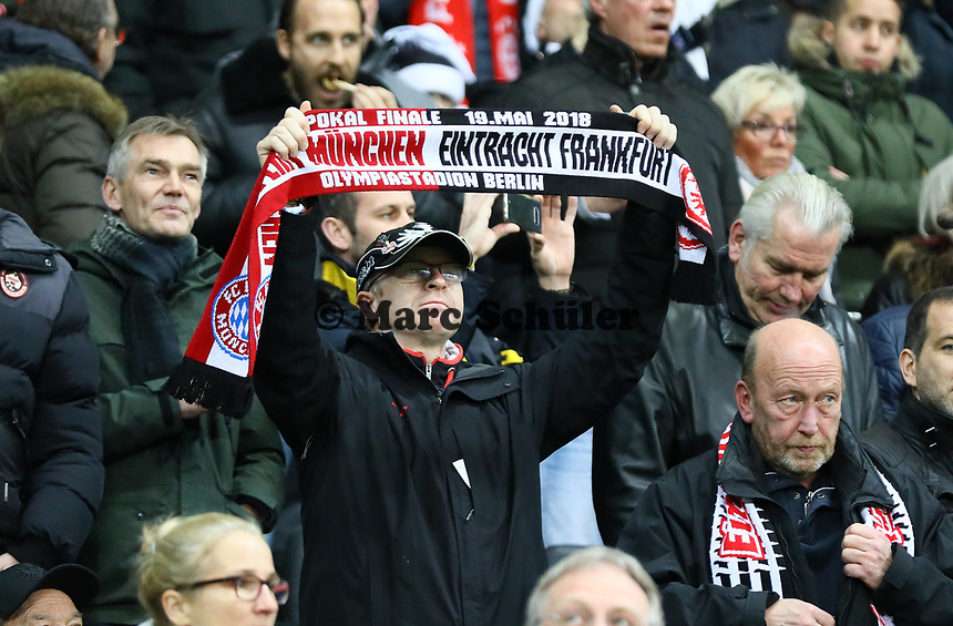 Fans von Eintracht Frankfurt - 22.12.2018: Eintracht Frankfurt vs. FC Bayern München, Commerzbank Arena, DISCLAIMER: DFL regulations prohibit any use of photographs as image sequences and/or quasi-video.