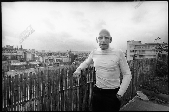 Michel Foucault, French philosopher, Paris, France, March 1977