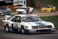Bobby Rahal drives the Ford Mustang Turbo in the Nissan Datsun 500k on April 10, 1983, at Road Atlanta near Braselton, Georgia.