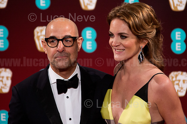 Stanley Tucci & Felicity Blunt (Literary agent & Stanley Tucci wife). <br />