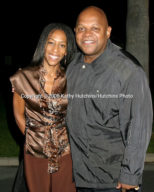 Charles S. Dutton and date.Hollywood Forever Cemetary.Premiere Screening of Ghost Whisperer and Threshold.Los Angeles, CA.September 9, 2005.©2005 Kathy Hutchins / Hutchins Photo