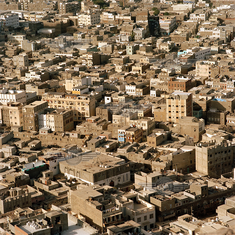 Ariel view of the city of Ta'izz.