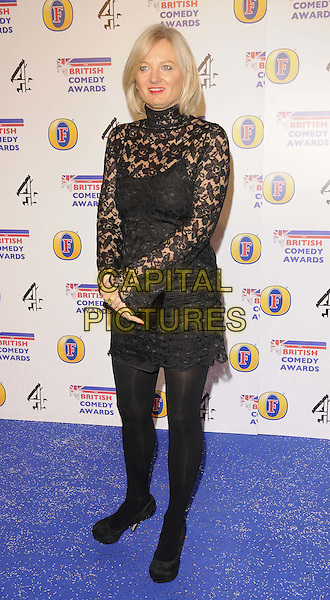 Alice Beer.attended the British Comedy Awards 2011, Fountain Studios, Wembley, London, England, UK, .16th December 2011..arrivals full length  black ace dress  polo neck long sleeve tights .CAP/CAN.©Can Nguyen/Capital Pictures.