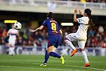 UEFA Women's Champions League 2017/2018.<br /> Quarter Finals.<br /> FC Barcelona vs Olympique Lyonnais: 0-1.<br /> Marta Torrejon vs Amel Majri.
