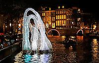 Amsterdam Light Festival . Een cultureel festival met lichtkunst. Arborescence