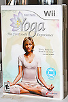 Model Anja Rubik poses on the cover of the Yoga for Wii video game. Photographed during Yoga for Wii video game launch, 463 West Street, Ramscale Loft, November 9 2009.