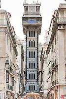 LISBOA-PORTUGAL, 12.08.2012 - Elevador Santa Justa, ou Elevador do Carmo, em Lisboa. Foi construído entre o final do século XIX e início do século XX pelo engenheiro  Raoul Mesnier du Ponsard. (Bete Marques/Brazil Photo Press)