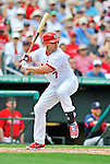 8 March 2012: St. Louis Cardinals' outfielder Matt Holliday in action during a Spring Training game against the Boston Red Sox at Roger Dean Stadium in Jupiter, Florida. The Cardinals defeated the Red Sox 9-3 in Grapefruit League action. Mandatory Credit: Ed Wolfstein Photo