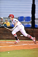 Johnson City Cardinals right fielder Blake Drake #40 at bat during a game against the Danville Braves at Howard Johnson Field September 4, 2014 in Johnson City, Tennessee. The Braves defeated the Cardinals 6-1. (Tony Farlow/Four Seam Images)