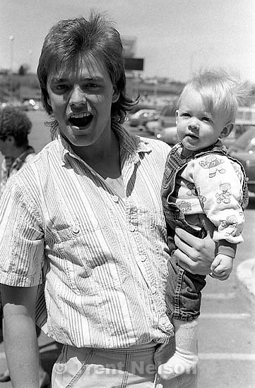Ted Hansen holding Nick Winther.   &amp;#xA;<br />