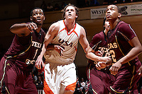 SAN ANTONIO , TX - MARCH 3, 2010: The Texas State University Bobcats vs. The University of Texas At San Antonio Roadrunners Men's Basketball at the UTSA Convocation Center. (Photo by Jeff Huehn)
