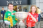 Pictured are.Michael Jasinski.and Mai Hourihane.in their.county jersey's.and the Sam.Maguire .