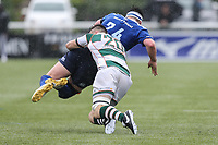Dan Temm of Ealing Trailfinders tackles during the British & Irish Cup Final match between Ealing Trailfinders and Leinster Rugby at Castle Bar, West Ealing, England  on 12 May 2018. Photo by David Horn / PRiME Media Images.