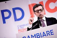 Roma, 12 Marzo 2017<br /> Presentazione al teatro Eliseo della candidatura a segretario del Partito Democratico di Andrea Orlando Ministro della Giustizia.