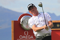 Miguel Angel Jiminez (ESP) on the 18th during the 1st day of the Omega European Masters, Crans-Sur-Sierre, Crans Montana, Switzerland..Picture: Golffile/Fran Caffrey..