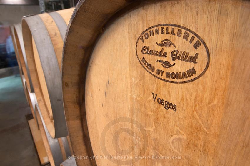 Barrel from Vosges oak from cooperage Claude Gillet dom g amiot & f chassagne-montrachet cote de beaune burgundy france