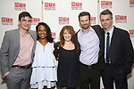 Bobby Moreno, Eboni Booth, Deirdre O'Connell, Frederick Weller and Abe Koogler attend the Opening Night photo call for 'Fulfillment Center' at New York City Center – Stage II on June 20, 2017 in New York City.