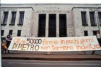 mani pulite 1992/1994, Milano, manifestazione a favore di Antonio di Pietro, 1994