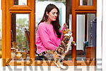 Ashe Spillane at her home in Tonevane, Tralee with her cat Bettel on Tuesday.