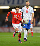 Tom Lawrence of Wales during the FIFA World Cup Qualifying match at the Cardiff City Stadium, Cardiff. Picture date: November 12th, 2016. Pic Robin Parker/Sportimage