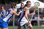 Santa Barbara, CA 02/13/10 - Brittany Barry (UCSB # 32) and Nicole Nadeau (Florida # 3) in action during the UCSB-Florida game at the 2010 Santa Barbara Shoutout, UCSB defeated Florida 9-8.