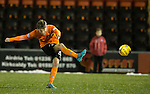 Blair Spittal fires in a free-kick to score for Dundee Utd