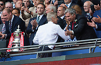 Arsene Wenger Arsenal manager shakes hands with Stan Kronke, arsenal owner during the FA Cup Final match between Arsenal v Chelsea, Wembley stadium, London on 27th May 2017