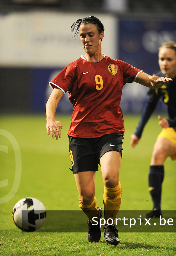 Belgium - Sweden : Marjorie De Rammelaere.foto DAVID CATRY / Vrouwenteam.be