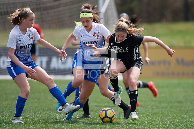 Greensboro, NC - April 09, 2018: 2018 Development Academy Spring Showcase in Greensboro, NC.