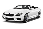 2017 BMW M6 - 2 Door Convertible Angular Front stock photos of front three quarter view