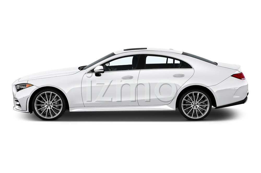 Car driver side profile view of a 2019 Mercedes Benz CLS-Coupe CLS450 4 Door Sedan