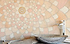 Ever Expanding Lotus, natural stone waterjet mosaic by<br />