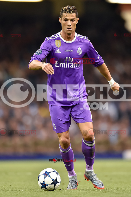 Cristiano Ronaldo of Real Madrid during the UEFA Champions League Final match between Real Madrid and Juventus at the National Stadium of Wales, Cardiff, Wales on 3 June 2017. Photo by Giuseppe Maffia.<br /> <br /> Giuseppe Maffia/UK Sports Pics Ltd/Alterphotos /nortephoto.com