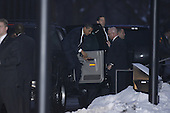 Chicago, IL - December 19, 2008 -- United States President-elect Barack Obama gets out of the car at Illinois Institute of Technology in Chicago, Illinois for a taping late Friday afternoon, December 19, 2008..Credit: Anne Ryan - Pool via CNP